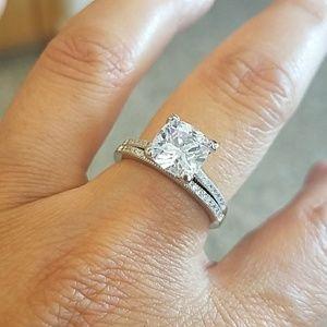 Jewelry - 2 CT Round Brilliant Engagement Ring &Band 2pc